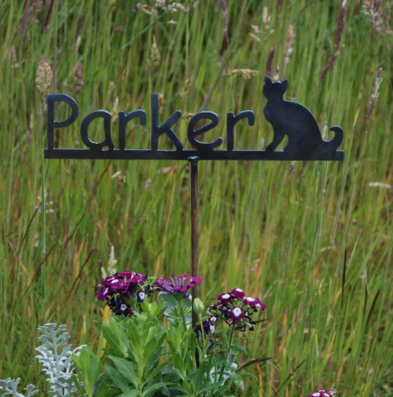 Garden Name Stake   Memorial Garden Marker   Metal Sign 4 Designs To Choose  From On