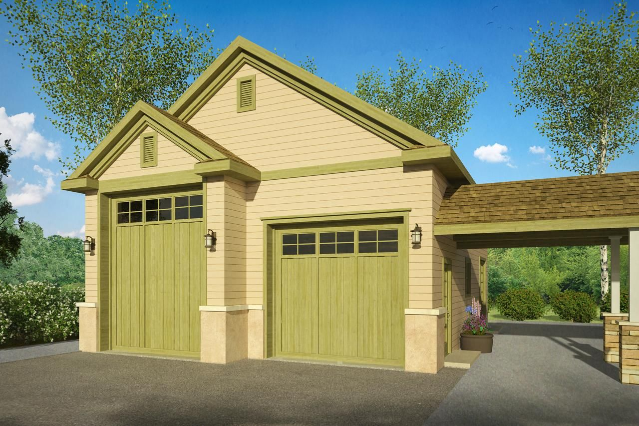 beautiful rv garage plans and designs #6: Garage plan is a 1078 sq ft country style 2 car garage design with RV  parking and attached breezeway from Associated Designs.