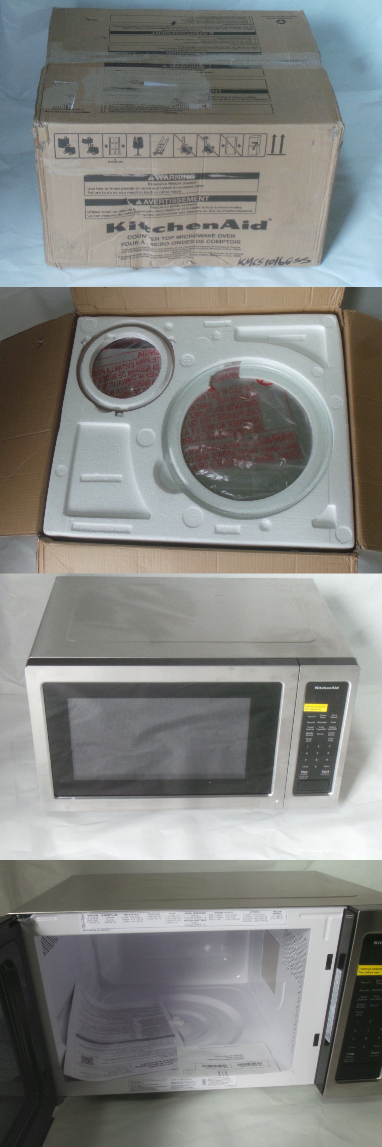 Microwave Ovens 150140 Kitchenaid Kmcs1016gss 1 6 Cf 1200w Stainless Steel Sensor Cooking Microwave Buy It No