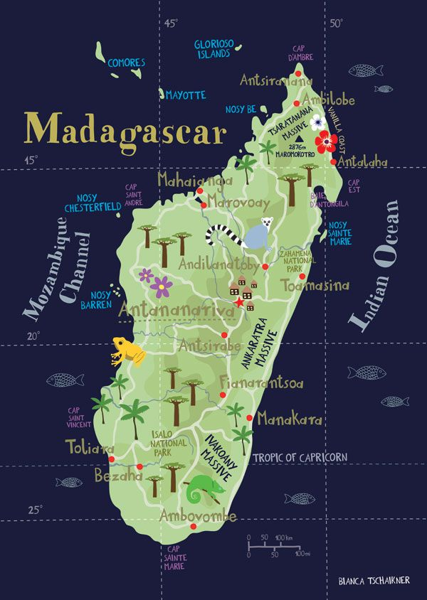 Madagascar Map Of Madagascar