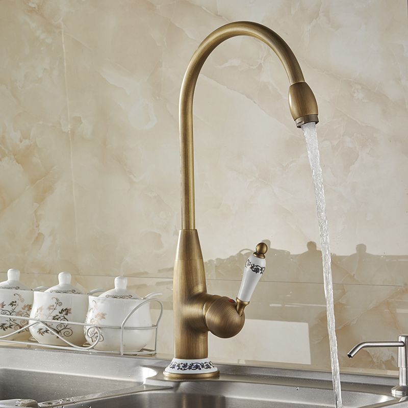 Free Shipping New Style Antique Brass Finish Faucet Kitchen Sink