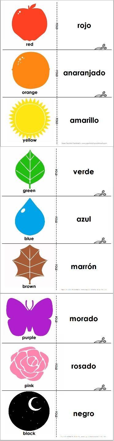 Spanisch _ Farben | spanisch | Pinterest | spanische Farben ...