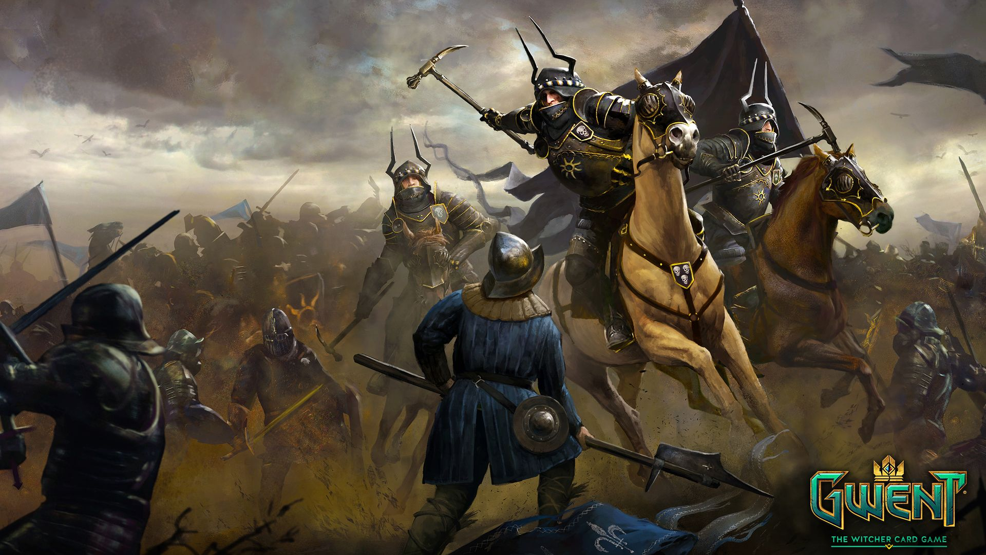 Nilfgaardian Army Desktop Wallpaper Gwint The Witcher Card Game The Witcher Fantasy Battle Witcher Art