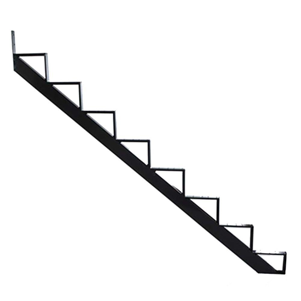 Limon D Escalier En Aluminium Noir 8 Marches Limon Escalier