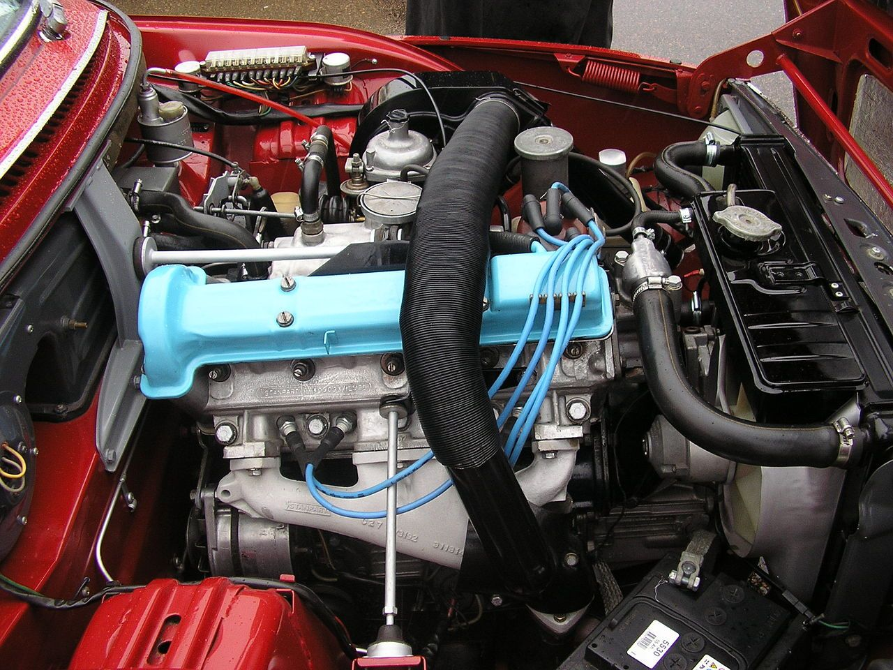 Engine Bay Saab 99 With First Triumph Derived