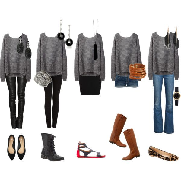 loose gray sweater | comfy style | Pinterest | Grey, Jane norman ...