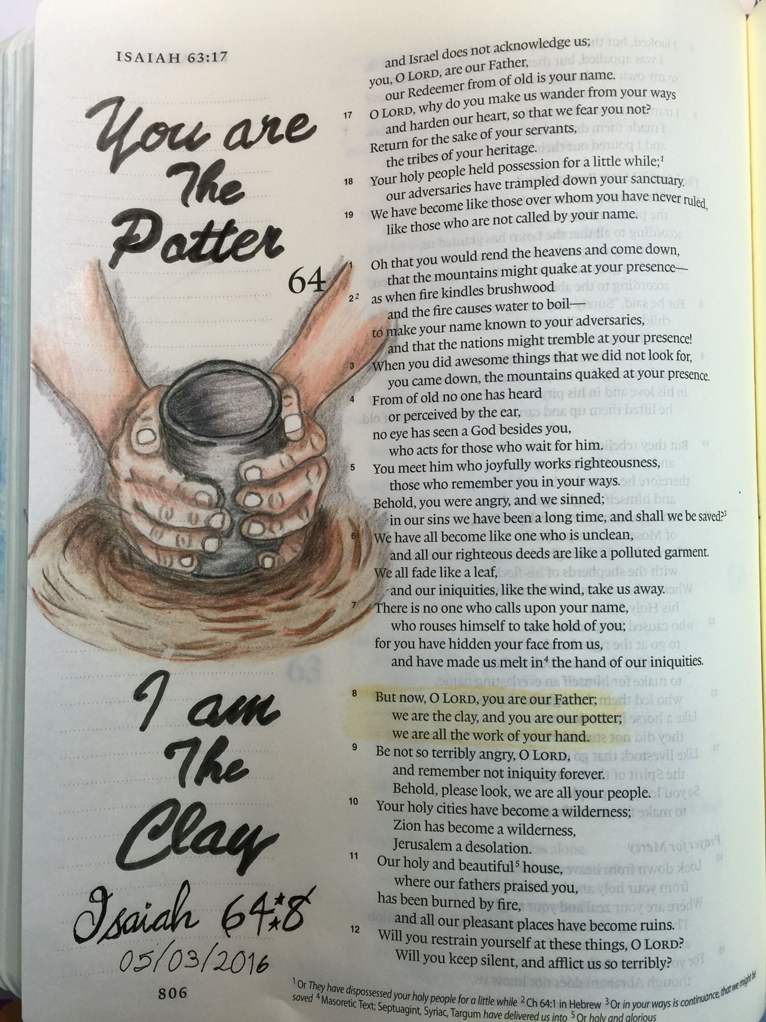 isaiah 648 you are the potter i am the clay - Isaiah 64 8 Coloring Page