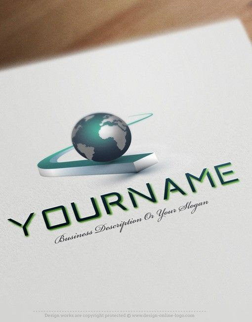 Exclusive Design Buy Globe Path Logo Free Business Card