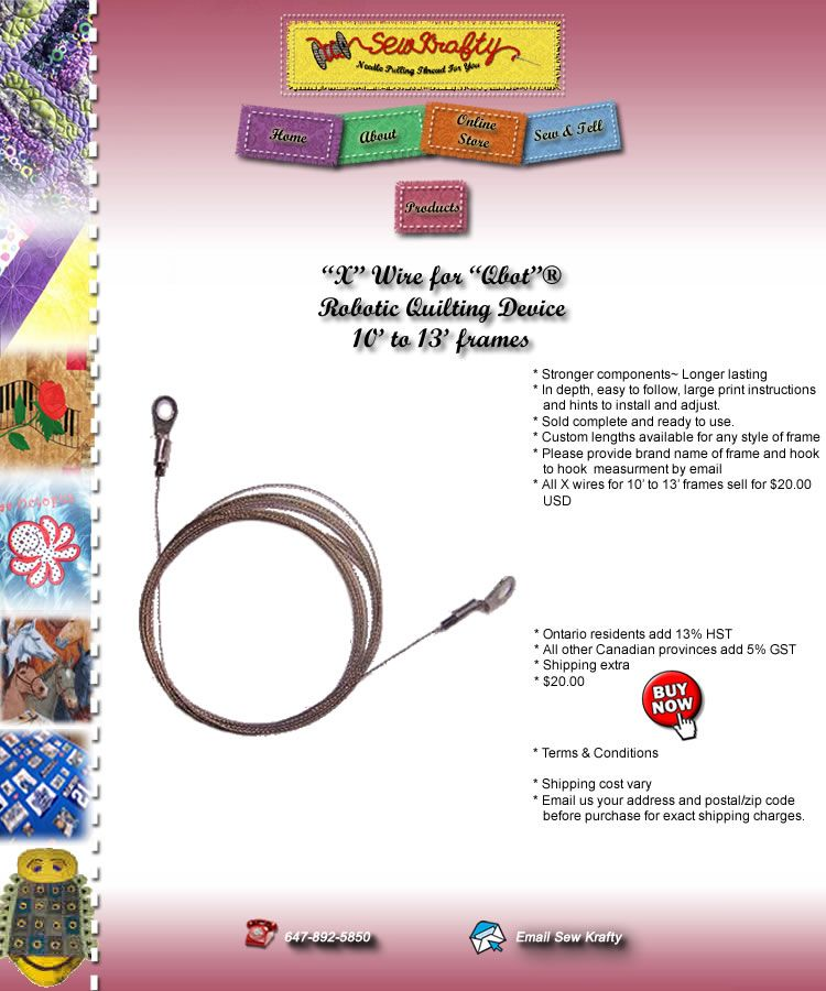 X Wire for Qbot She does custom sizes too.high quality! If any one ...