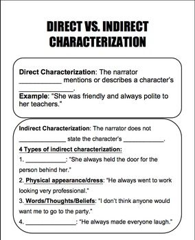 characterization examples in literature
