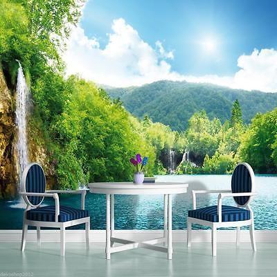 Vlies Fototapeten Fototapete Tapeten Wandbild Wasserfall Lagune - garten eden schlafzimmer design