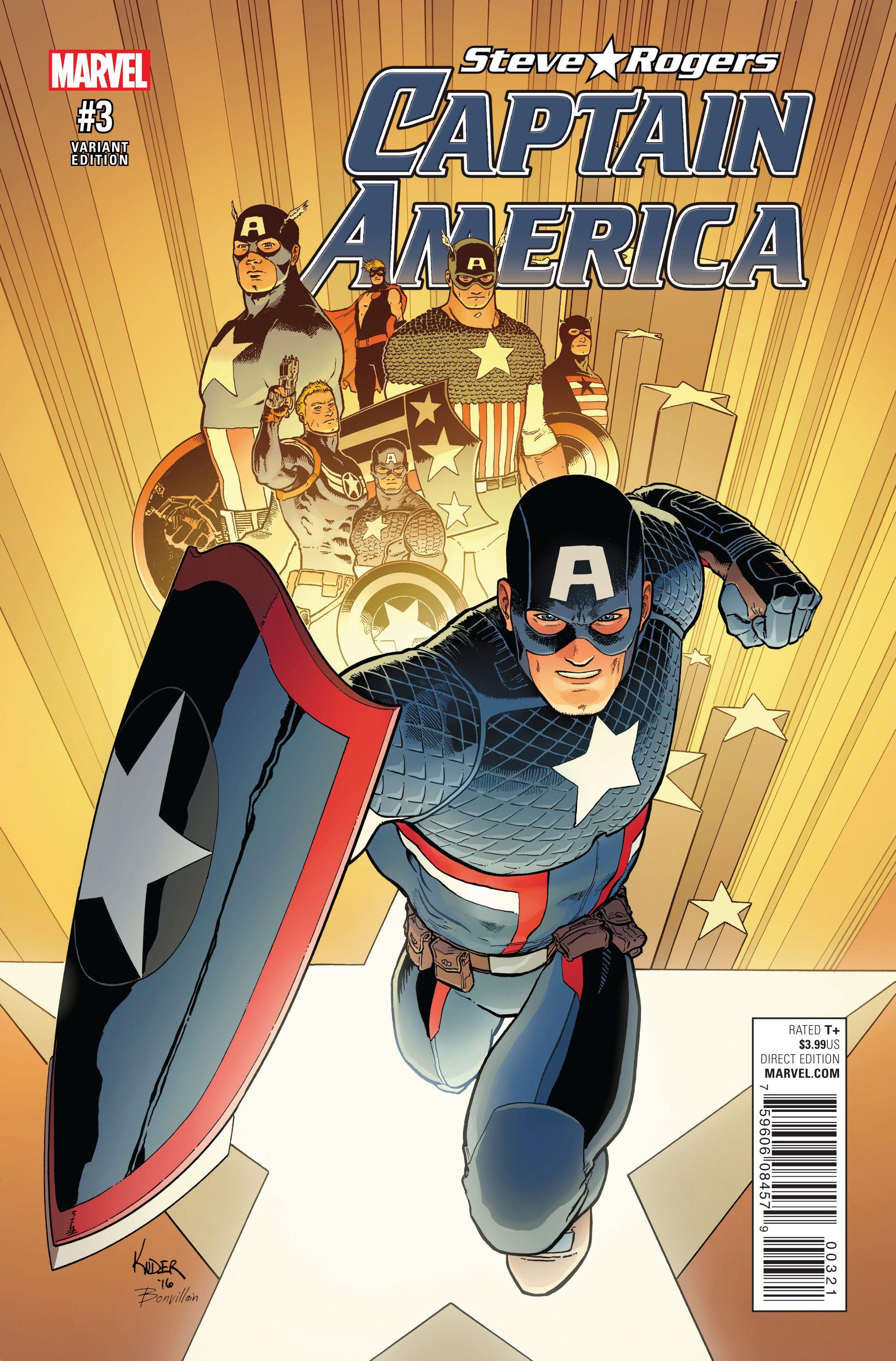 Captain America: Steve Rogers 3 Page 1   Classic cover art   Pinterest
