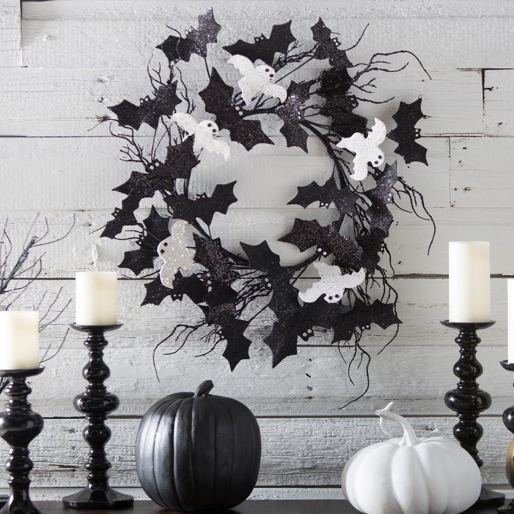 31 Ideas For Stylish Black  White Halloween Decorations Výzdoba - black and white halloween decorations