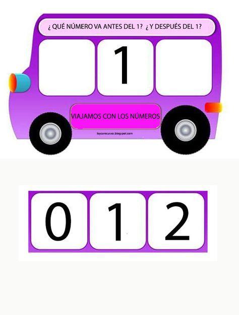 He elaborado estos autobuses para trabajar el anterior y el ...
