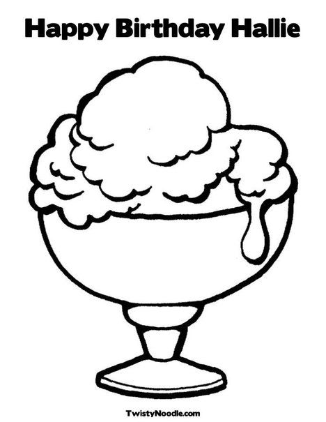 Ice Cream Coloring Page Birthday Party Ice Cream Coloring