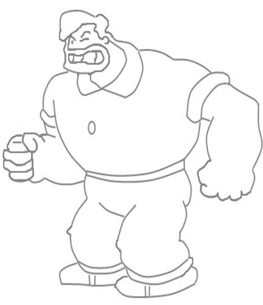 Popeye Characters Coloring Bluto Character Printable Coloring Page For Kids Popeye Characters Coloring Pages Printable Coloring Pages Coloring Pages For Kids
