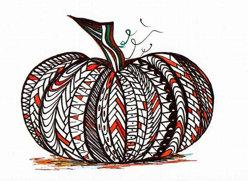 zentangle pumpkin! Zentangle, Zentangle patterns