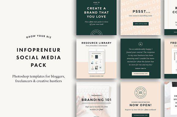 Infopreneur Social Pack By Station Seven On Creativemarket Design