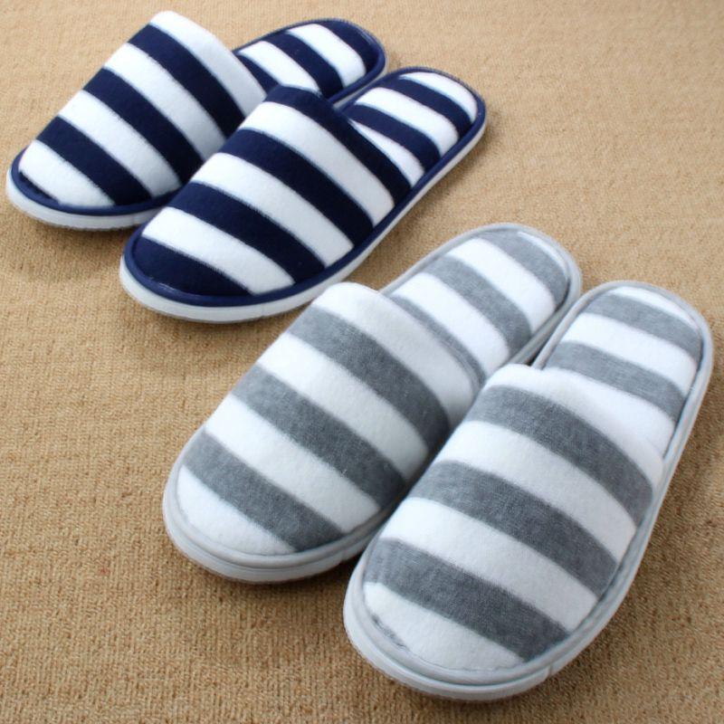 f3e46ea4f42 Travel Pantoufle New Plush Floor Cotton Bedroom Home Shoe Woman Indoor  Slipper For Men Ladies Hotel Femme Pantufa Chinelos Homem