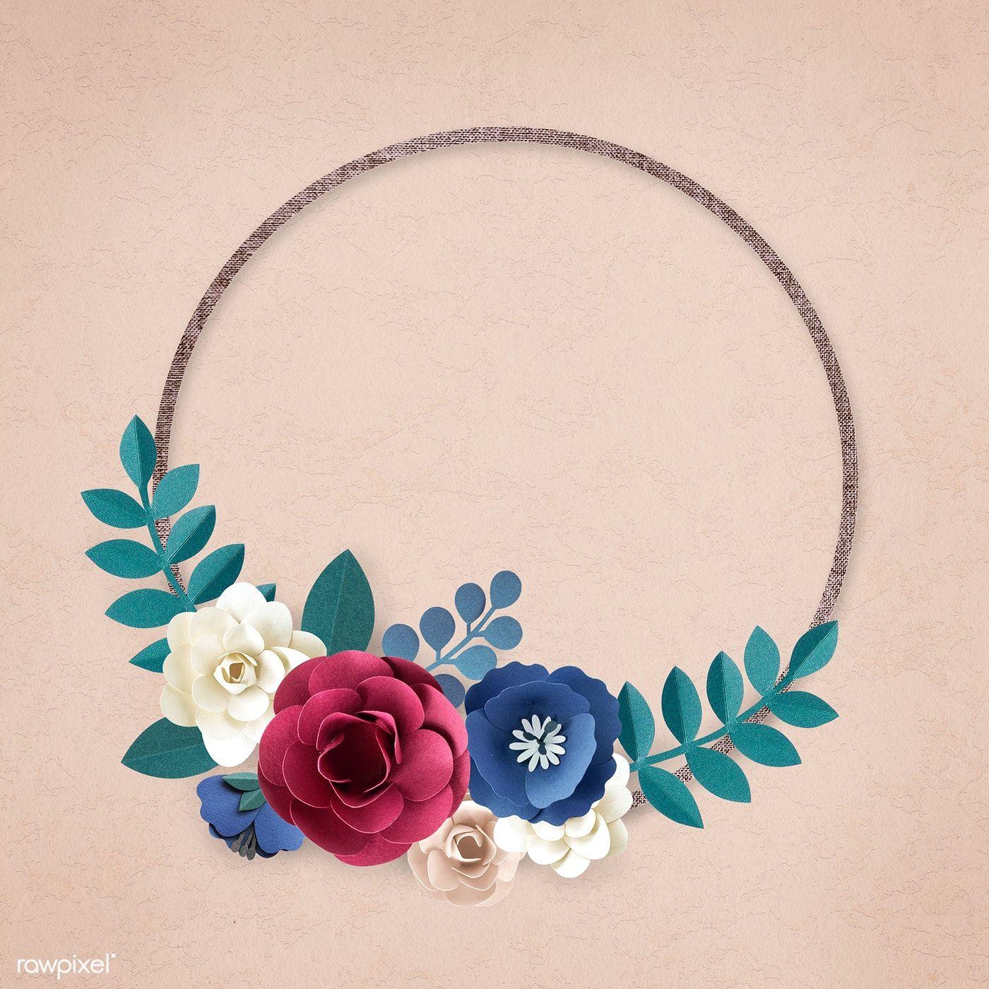 Download premium illustration of Round paper craft flower