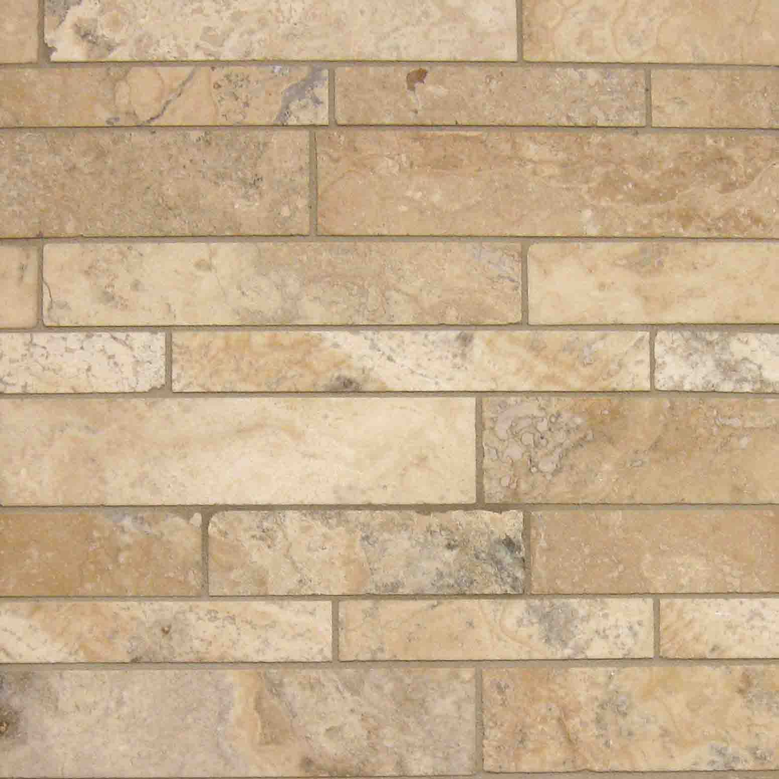 Backsplash Mirrored Wall Travertine Random Mosaic 3 Inch
