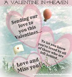 Happy Valentines Day In Heaven In Loving Memory Happy