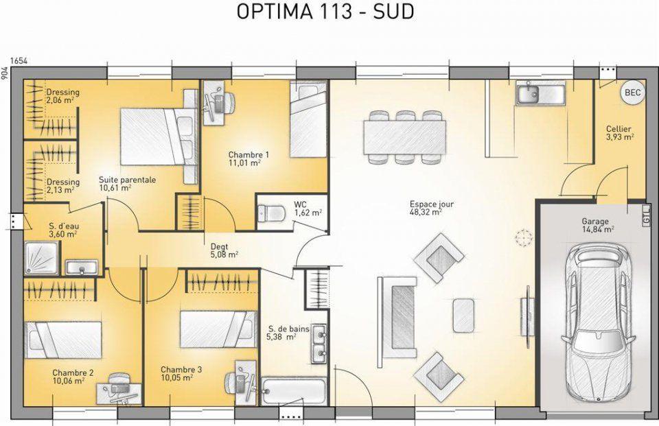 Plan Maison Neuve  Construire  Maisons France Confort Optima