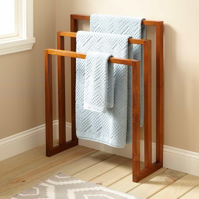 Petit Meuble Pour Salle De Bain useful towel rack for your bathroom   idées de meubles
