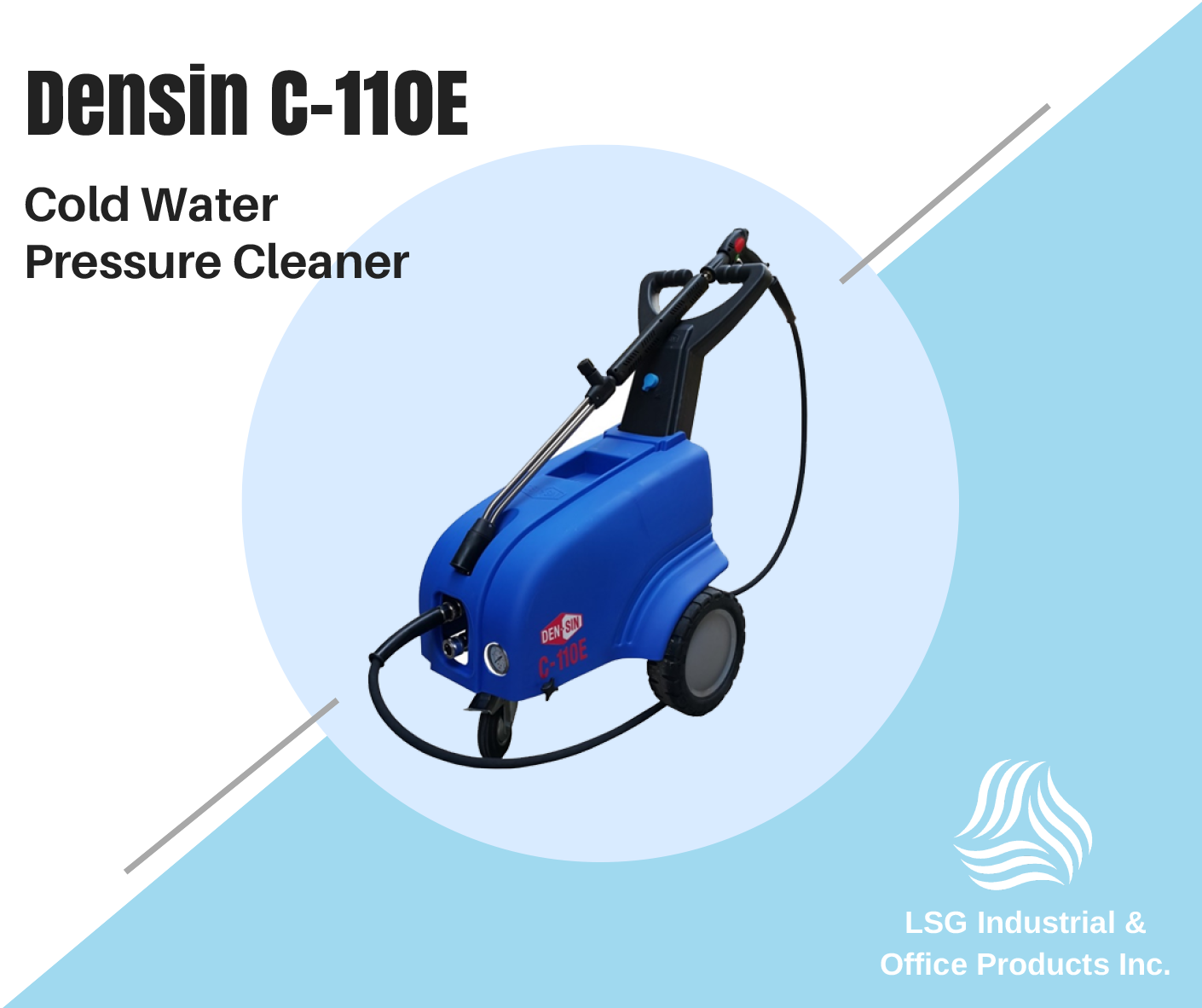 Densin C110E Cold Pressure Cleaner is a heavyduty