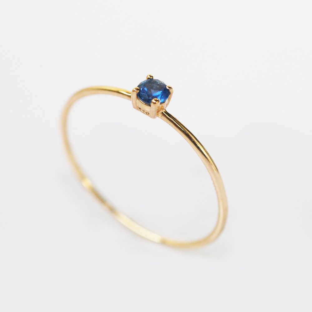 blue gemstone ring simple gold ring gold sapphire ring sapphire ring thin gold ring dainty sapphire ring sapphire solitaire ring