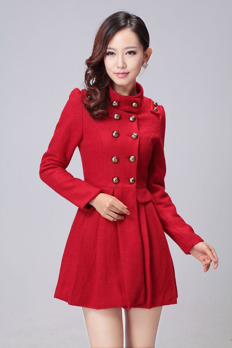 women's red coats | Red Wool Coat for Tennagers Girls 270x180 Red ...