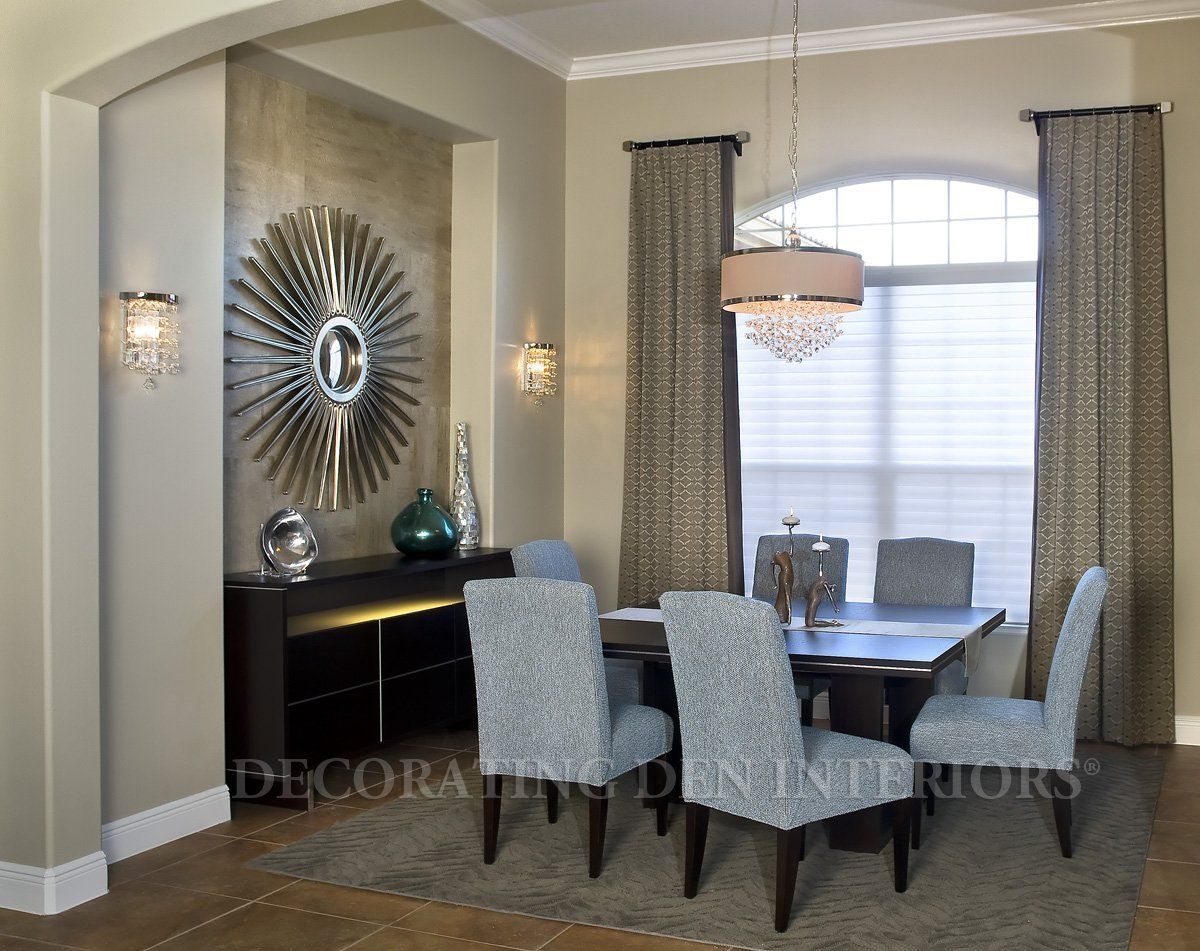 How to decorate a recessed wall niche in your dining for Modern dining room wall art