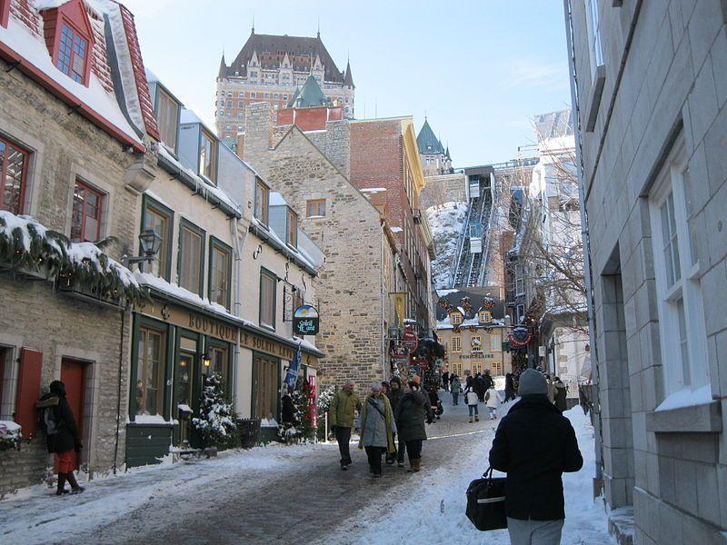 Funiculaire du vieux Québec.