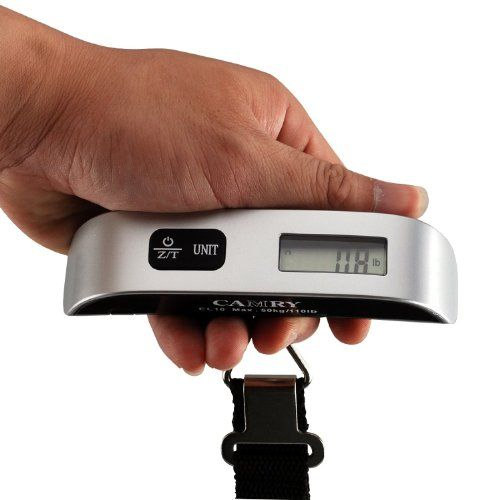 Camry 110lbs Luggage Scale with Temperature Sensor and Tare Function Without Backlight || Amazon.com || $11.50