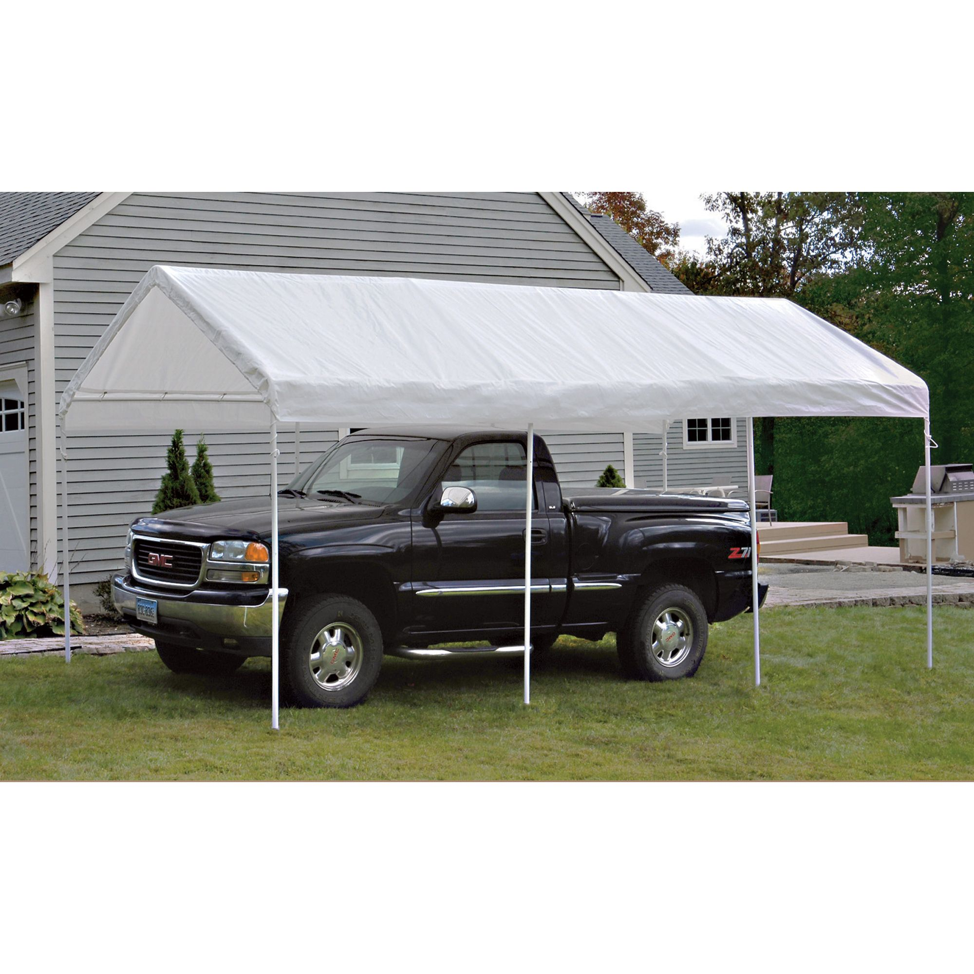 Shelterlogic Outdoor Canopy And Enclosure With Windows 20ft L X 10ft W White Model 23534 In 2020 Canopy Outdoor Canopy Canopy Shelter