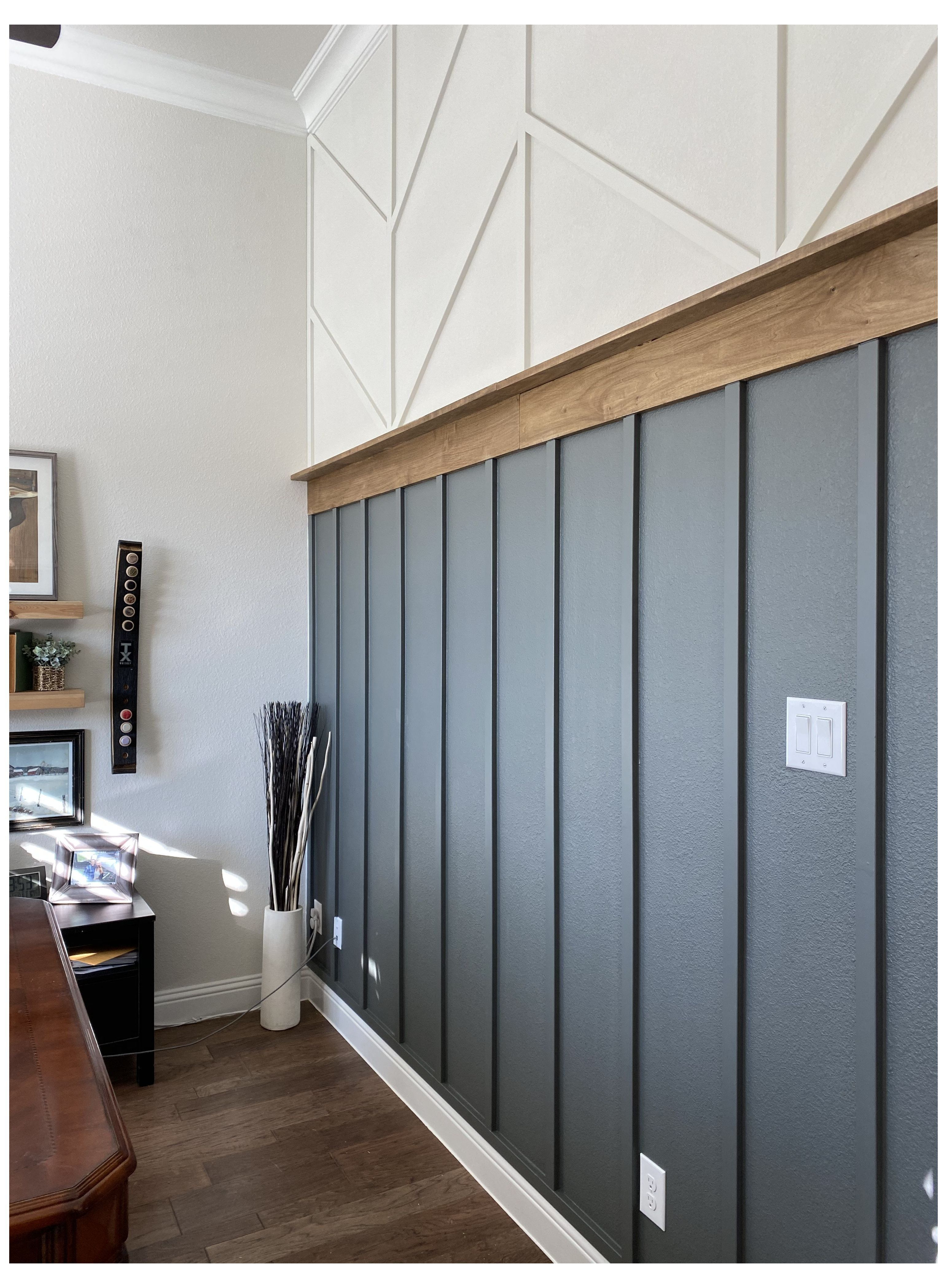Modern Wall Accent Colored Board And Batten Hallway Coloredboardandbattenhallway Home Home Remodeling Home Diy