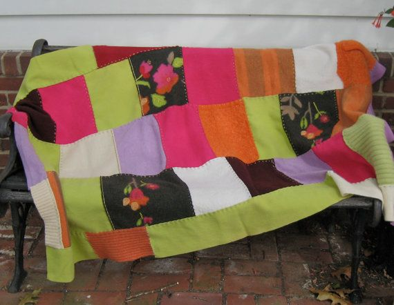 Wool Blanket  Southwest Colors with a Twist made by heartfeltbaby