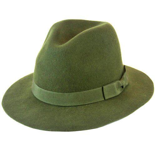6434472f037 Olive Green Wool Felt Structured Fedora Hat - List price   40.00 Price    29.99