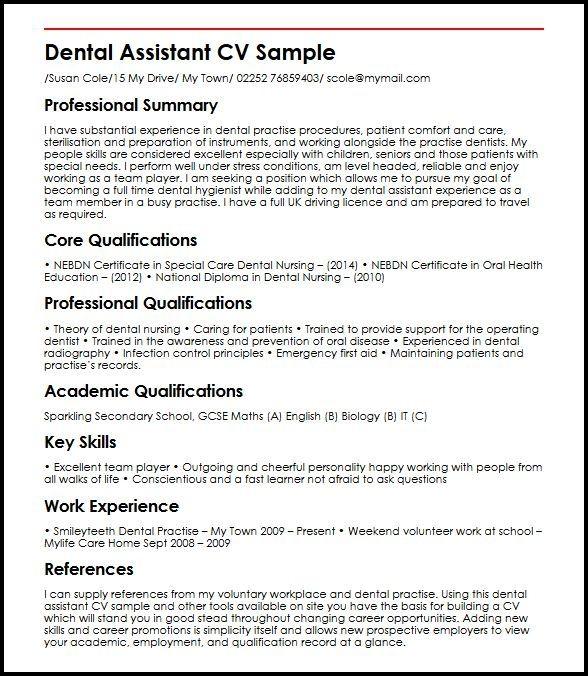 cool cv dentist template pictures  dengan gambar