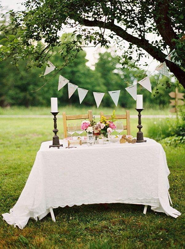 Decoracion chic ceremonia boda en el campo brides for Arreglos para boda civil