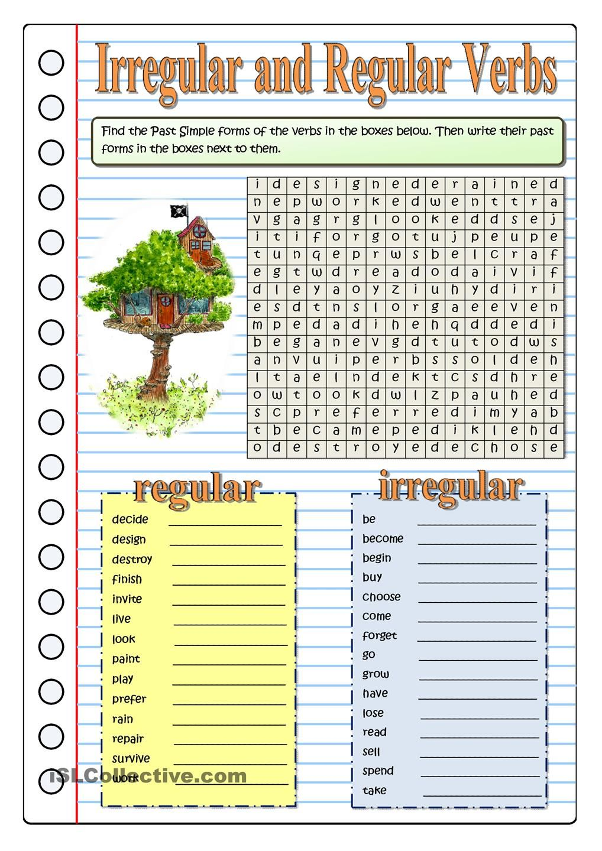 The Tree House Part 2 Irregular Verbs Teaching English Grammar English Verbs [ 1440 x 1018 Pixel ]