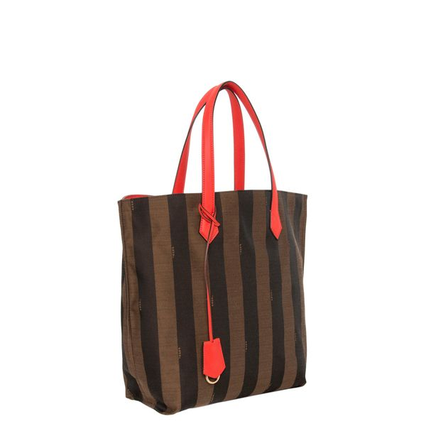8317a8a81c Fendi  All In  Pequin Striped Orange Trim Shopper Tote - Overstock™  Shopping - Big Discounts on Fendi Designer Handbags