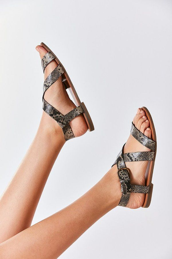 3f687869ccd Urban Outfitters Maddie Faux Python Leather Sandal | Products ...