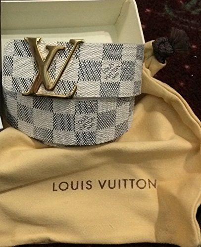 a59575d1deaf New Authentic Louis Vuitton LV Initials Damier Graphite Mens Belt Size  85 34 null http