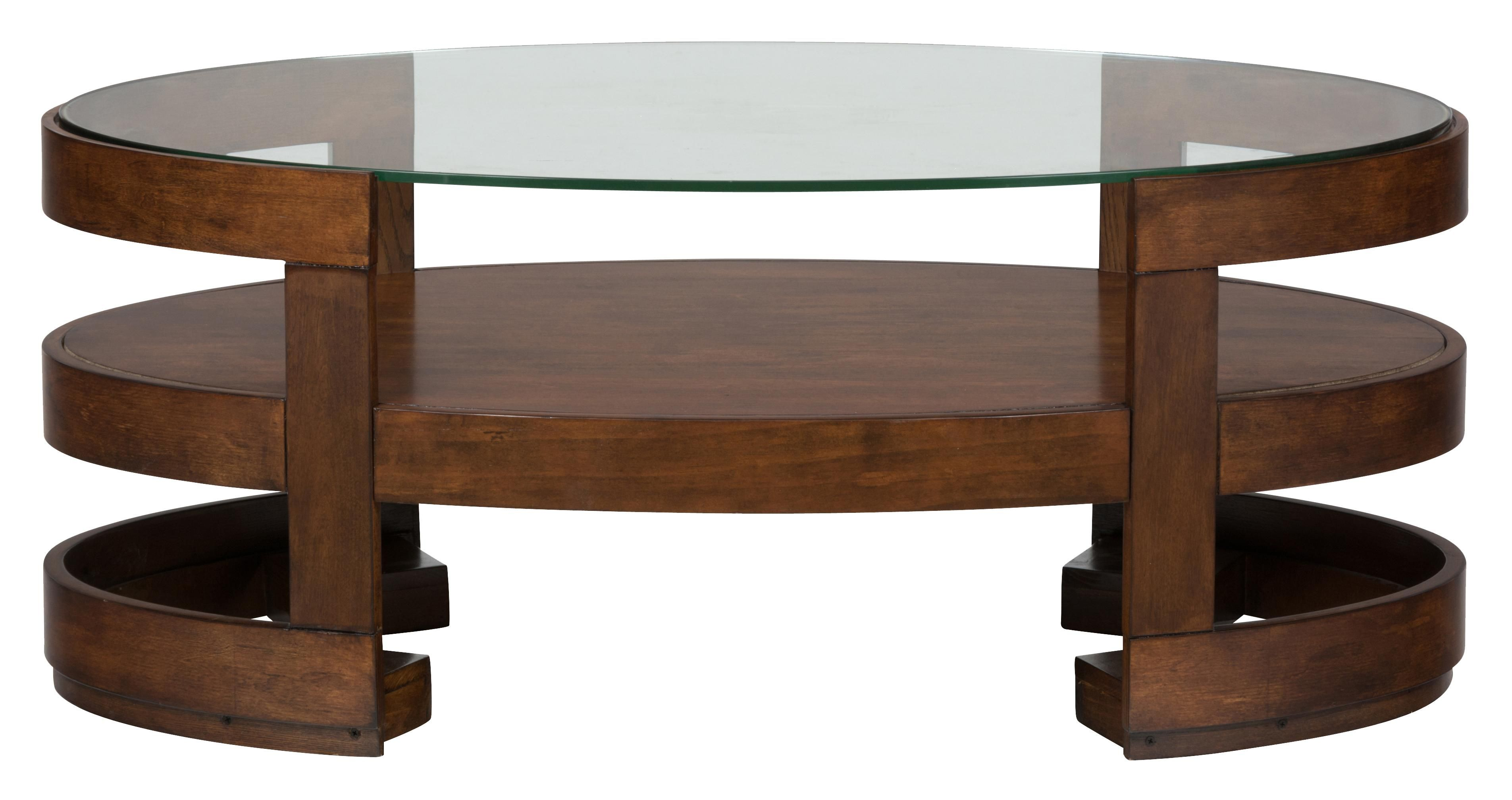 Avon Birch Oval Cocktail Table with Glass Top by Jofran