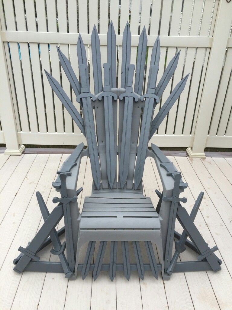Game of thrones chair adirondack chair as a base for Buy iron throne chair