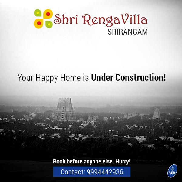 "More Apartments Under Construction In Warner Center: ""Shri Renga Villa, Srirangam"""