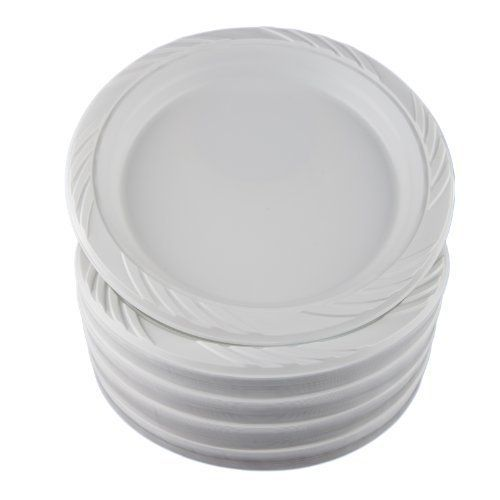 Amazonsmile White 9 Plastic Plates 100 Count 100 Count 100 Count Disposable Plates Kitchen White Plastic Plates Plastic Plates Plastic Party Plates