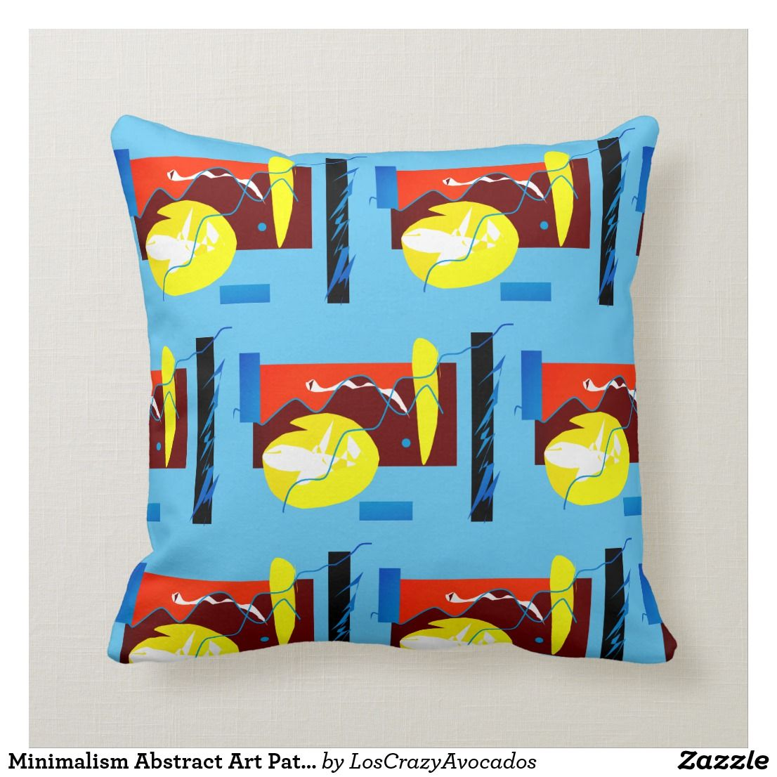 Minimalism Abstract Art Pattern Pillow Cushion Zazzle Com Pattern Art Pillow Cushion Pillow Pattern