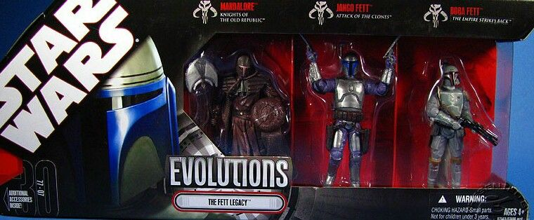 Mandalorian Fett Evolution Pack Star Wars Collection Star Wars